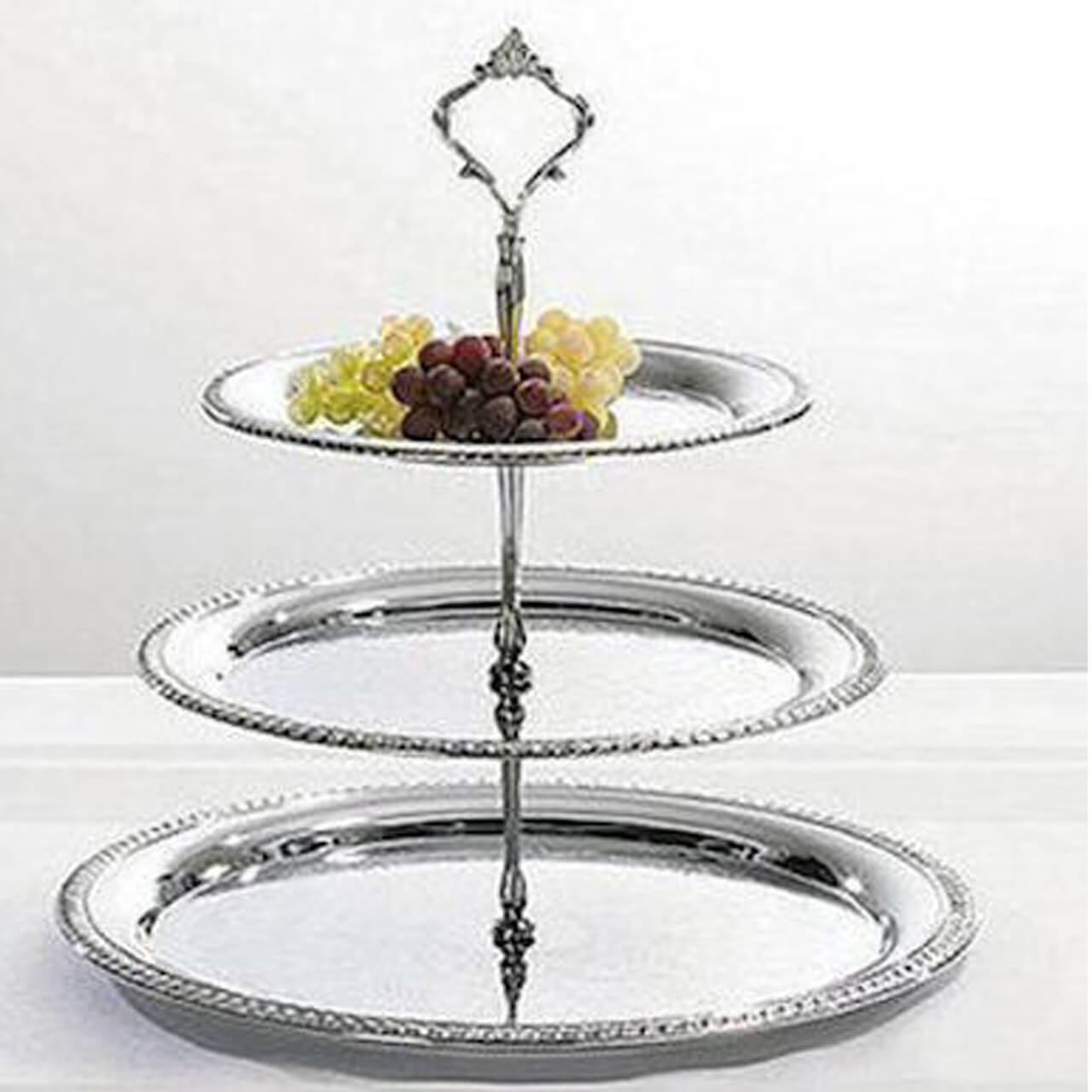 Party Rental 3 Tier Silver Stand Sw Florida Exclusive