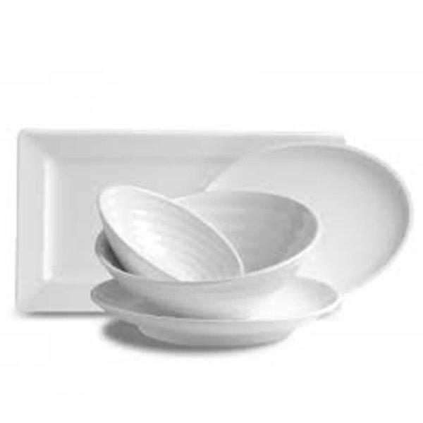 Bone White Serving Bowls & Platters
