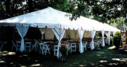 Frame Tent with Pole Drapes