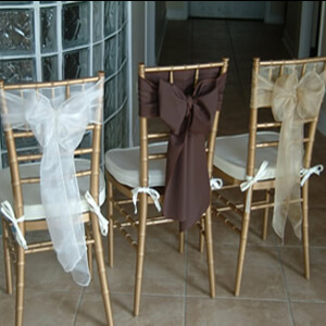 event rental chair sash