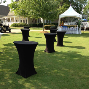 event rental spandex linen
