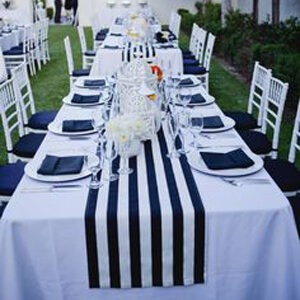 event rental table runners