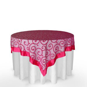event rental tablecloth overlays