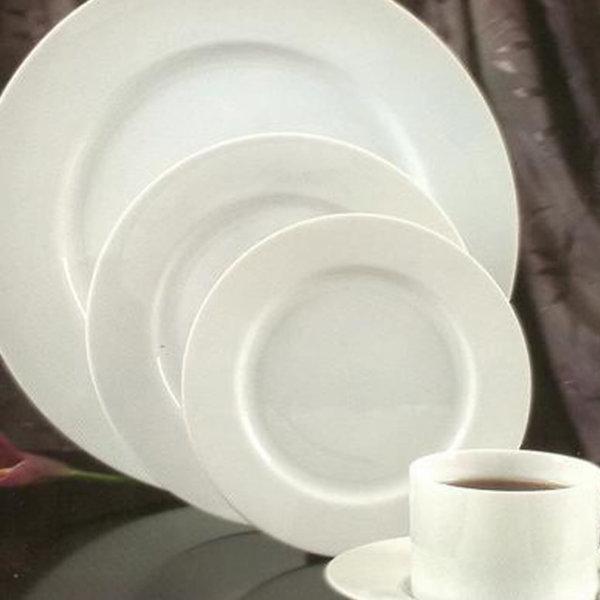 White Round China