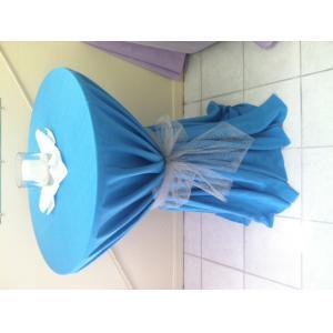 turquoise linen