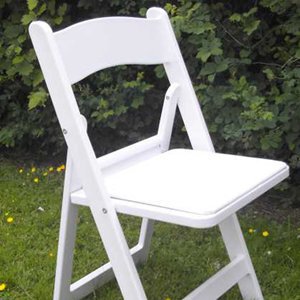 White Padded Resin Chair