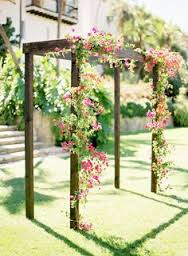 rustic wooden square top arch