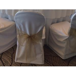 Chair cover with antique gold sash