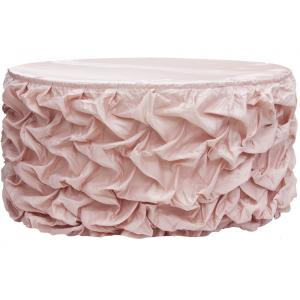 Gathered blush tableskirt