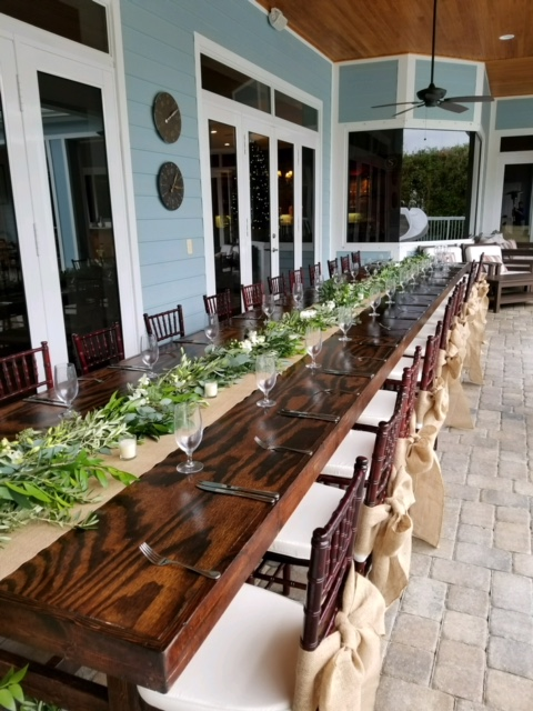 Mahogany Farm Table