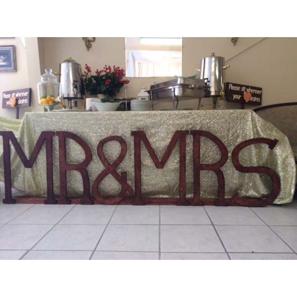 Large Wooden Mr Mrs Wedding Sign
