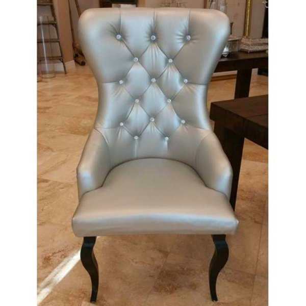 Silver High Back Sweetheart Chairs
