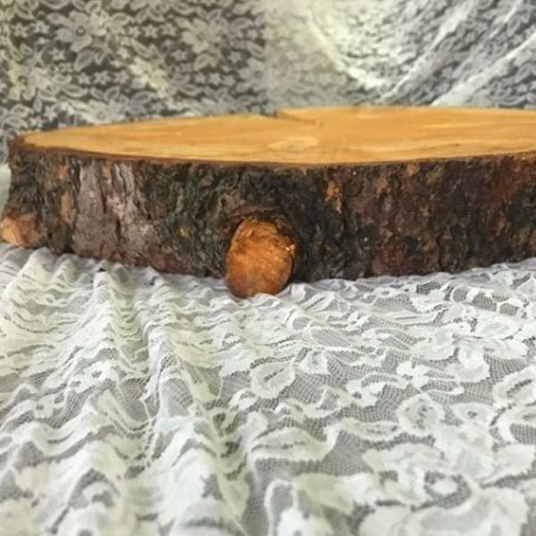 20 Inch Round Pine Cake Stand