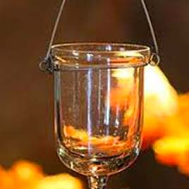 Clear Hanging Votive candle