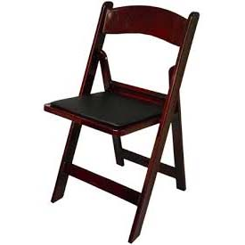 Mahogany Padded Folding Resin Chair