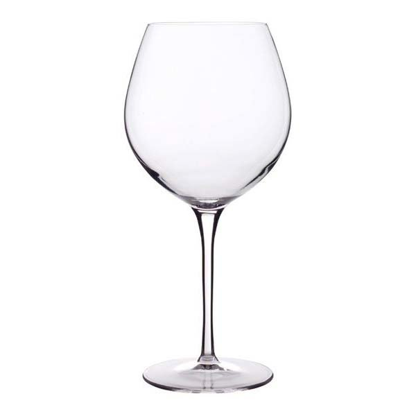 Red Crystal Wine Glass